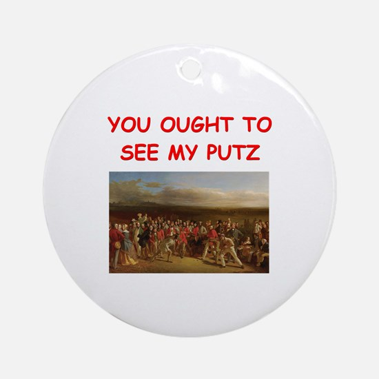 golf humor on gifts and t-shi Ornament (Round)
