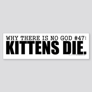 No God: Kittens Bumper Sticker
