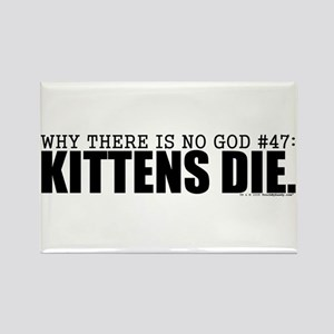No God: Kittens Rectangle Magnet