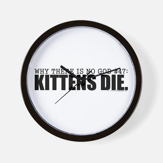 No God: Kittens Wall Clock