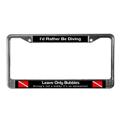 Leave Only Bubbles, License Plate Frame
