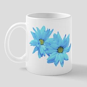 Two Blue Flowers Mug