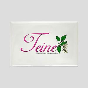 Flower Teine Rectangle Magnet