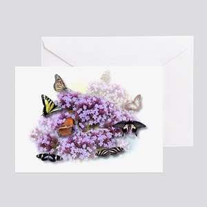 Tiger Swallowtail Butterfly & Lilacs Greeting Card