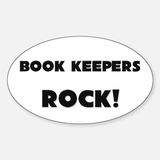 Book Keepers ROCK Oval Decal