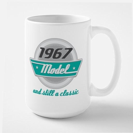 1967 Birthday Vintage Chrome Mugs