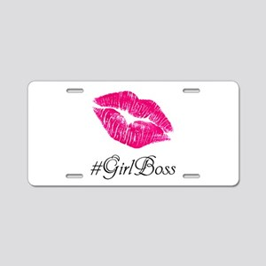 #GirlBoss Aluminum License Plate