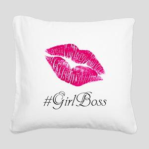 #GirlBoss Square Canvas Pillow