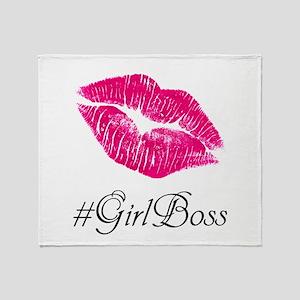#GirlBoss Throw Blanket