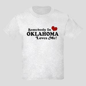 Somebody in Oklahoma Loves Me Kids Light T-Shirt