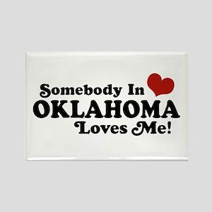 Somebody in Oklahoma Loves Me Rectangle Magnet
