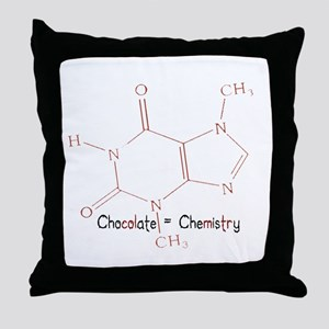 Chocolate Is Chemistry Throw Pillow