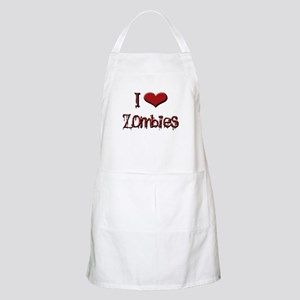 I love zombies BBQ Apron