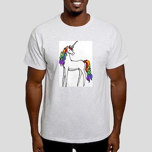 Rainbow Unicorn Ash Grey T-Shirt