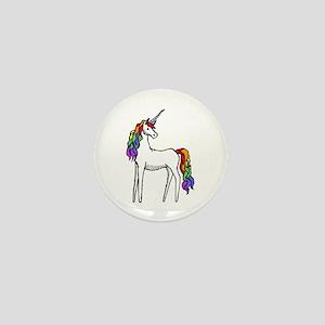 Rainbow Unicorn Mini Button