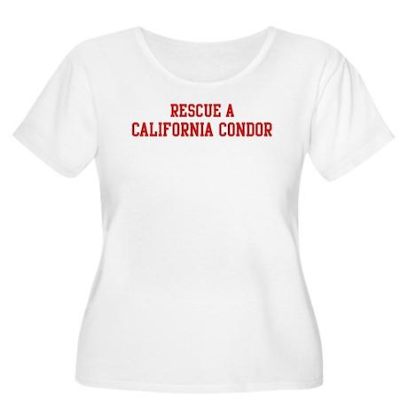 Rescue California Condor Women's Plus Size Scoop N