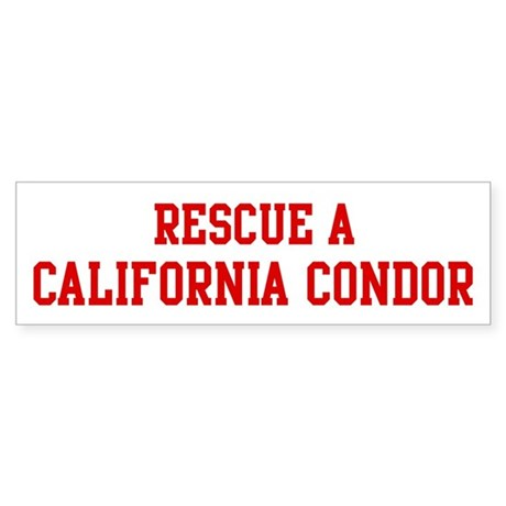 Rescue California Condor Bumper Sticker