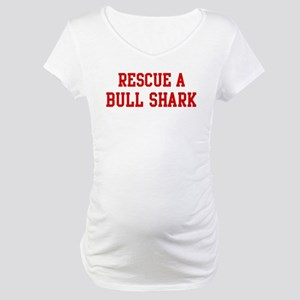Rescue Bull Shark Maternity T-Shirt