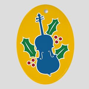Cello Holly Oval Ornament