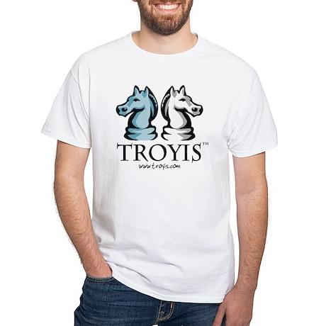 TROYIS White T-Shirt