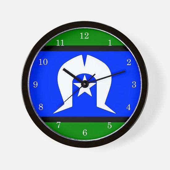 Torres Strait Islander Flag Wall Clock