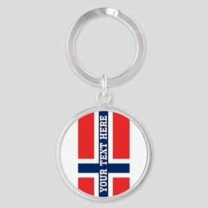 Personalize Flag of Norway Keychains