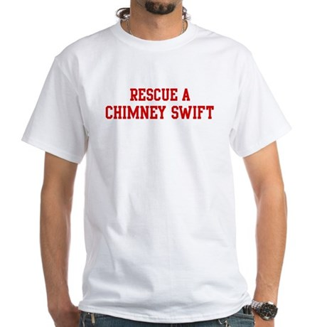 Rescue Chimney Swift White T-Shirt