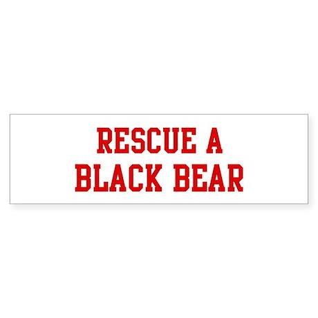 Rescue Black Bear Bumper Sticker
