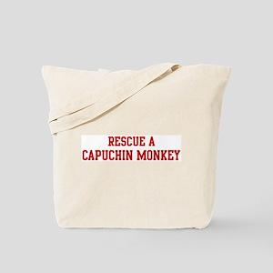 Rescue Capuchin Monkey Tote Bag