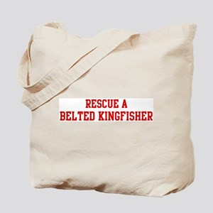 Rescue Belted Kingfisher Tote Bag