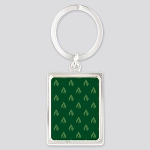 FLAMES - GREEN Keychains