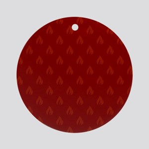 FLAMES - RED Round Ornament