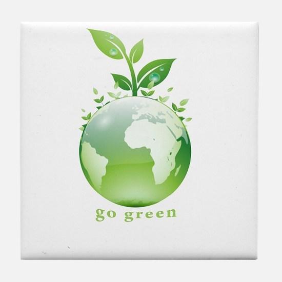 Green World Tile Coaster