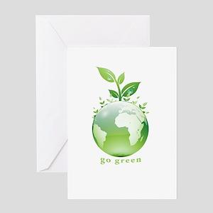 Green World Greeting Card
