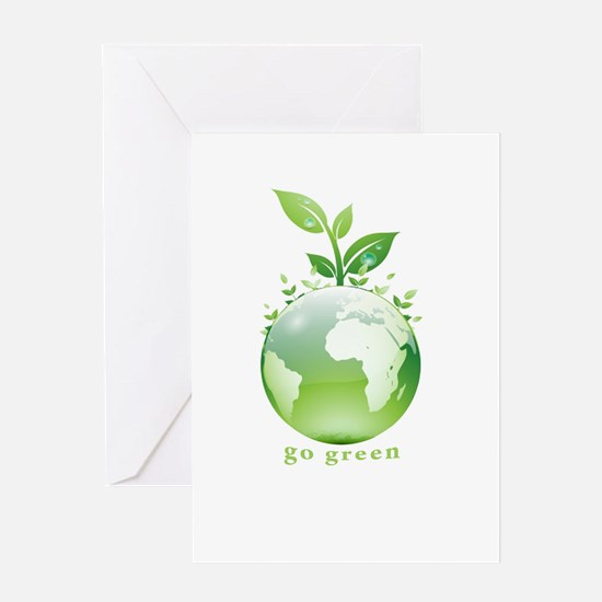 Green World Greeting Card