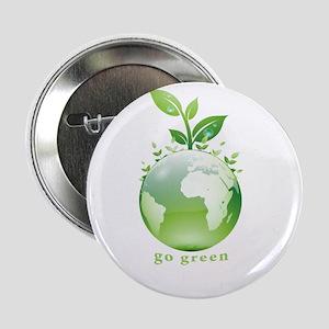"""Green World 2.25"""" Button"""