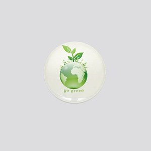 Green World Mini Button