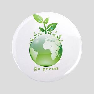 """Green World 3.5"""" Button"""