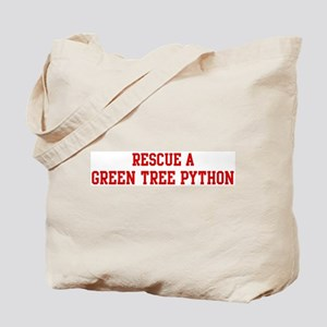 Rescue Green Tree Python Tote Bag