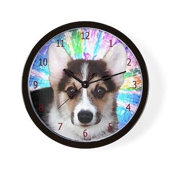 Corgi Puppy Face Wall Clock