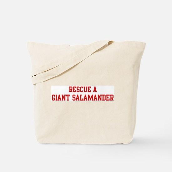 Rescue Giant Salamander Tote Bag