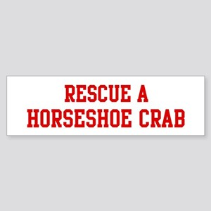 Rescue Horseshoe Crab Bumper Sticker