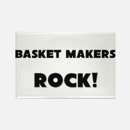 Basket Makers ROCK Rectangle Magnet