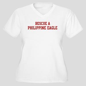 Rescue Philippine Eagle Women's Plus Size V-Neck T