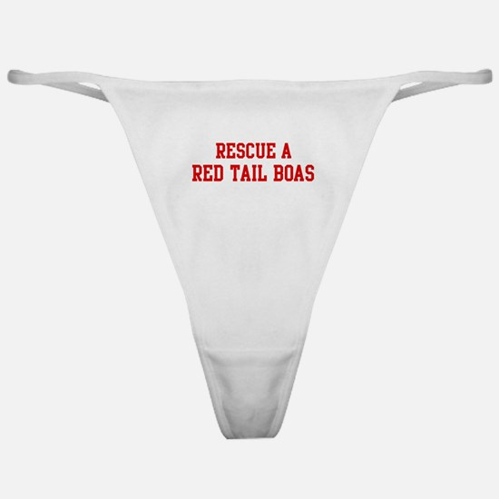 Rescue Red Tail Boas Classic Thong