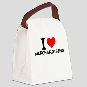 I Love Merchandising Canvas Lunch Bag