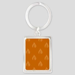 FLAMES - ORANGE Keychains