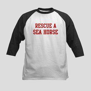 Rescue Sea Horse Kids Baseball Jersey