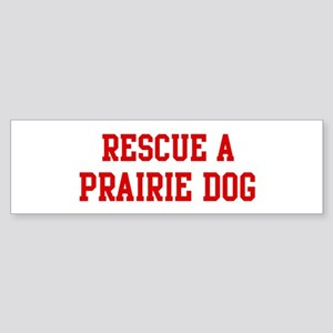 Rescue Prairie Dog Bumper Sticker