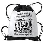 freakin awesome wellness Drawstring Bag